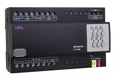 Gólfhitaeining 6 relay útgangar & 6 x 0-10V útgangar