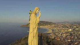Mont Urgull et Statue du Sacré Coeur à San Sebastian - Donostia