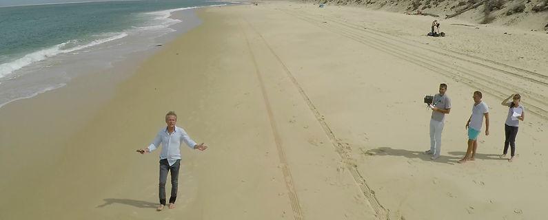 Equipe de tournage France Ô à la Dune du Pyla
