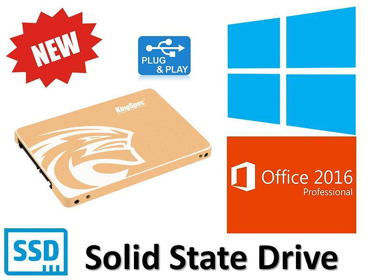 512GB SSD Hard Drive Laptop Desktop With Genuine Windows ...
