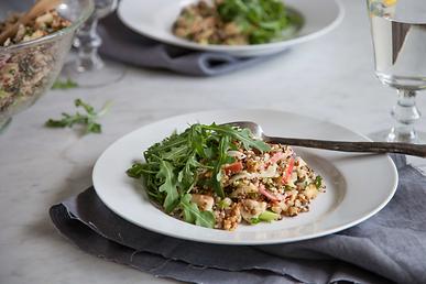 Apple Quinoa Lentil Salad