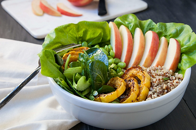 Apple Grains and Greens Bowl