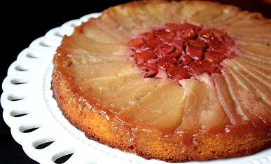 Apple and Cherry Upside-Down Cake