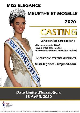 Casting Miss Elegance Meurthe et Moelle 2020