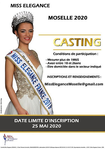 Casting Miss Elegance Moselle 2020