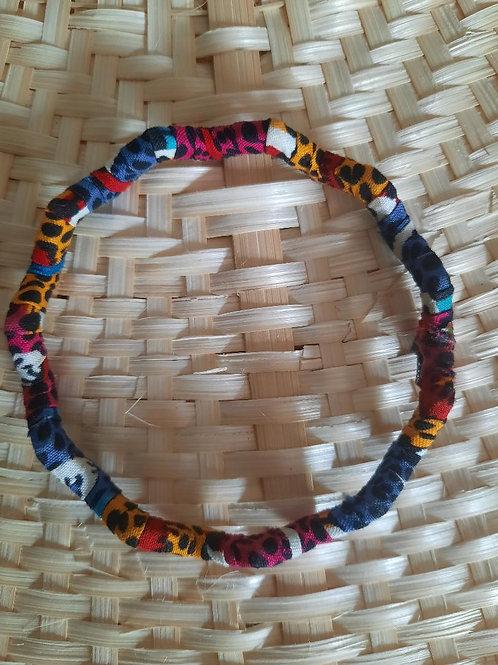 Bracelet tissu wax multicouleur