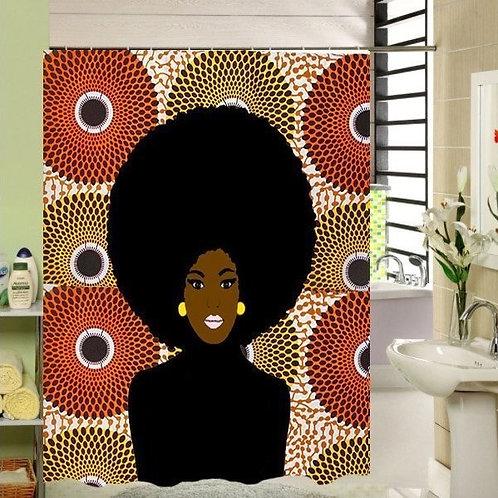 Rideau de douche Afro'chick
