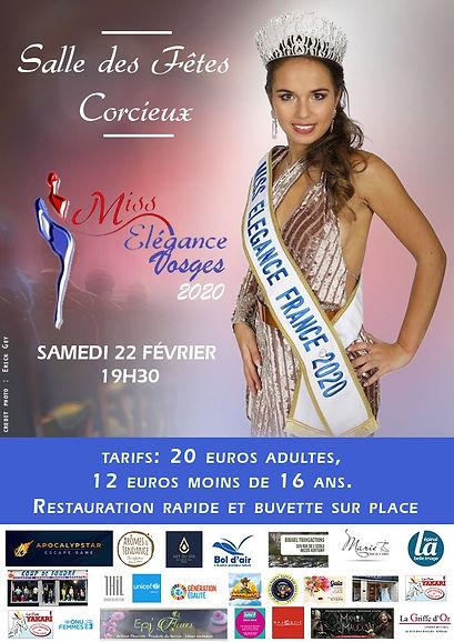 Billetterie Election Miss Elegance Vosges 2020 Corcieux Samedi 22 Février
