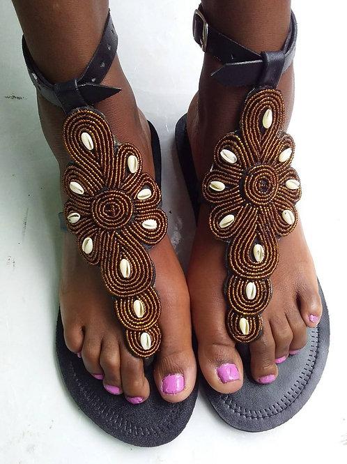 Sandale perlée d'Afrique masaï
