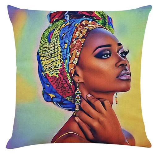 Taie de Coussin Femme Afro  45*45cm