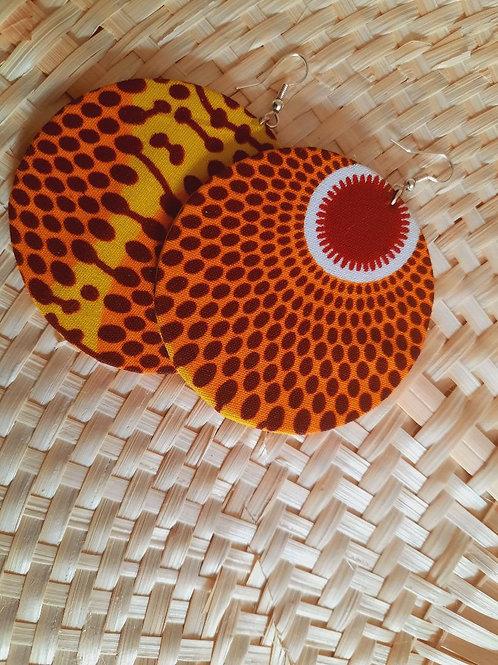 Boucle d'Oreille Wax Rouge et Orange