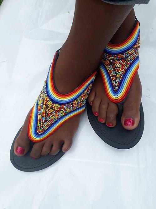 Sandales africaines  maasaï  faits à la main
