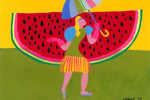 Watermelon Rain>> Original >> 28 x 38 cm
