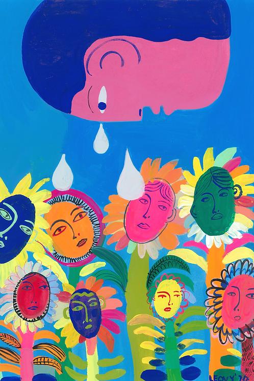 Watering Emotions>> Original >> 28.5 x 38 cm