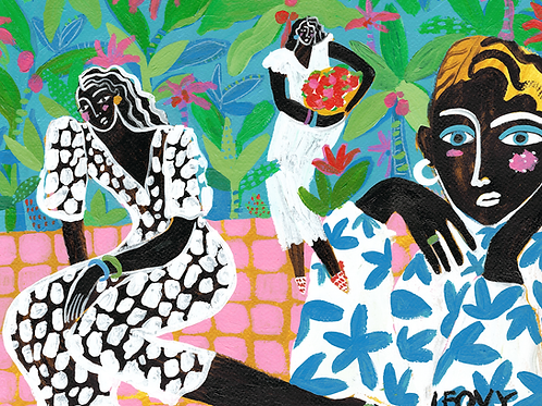 Jungle Queens >> Original >> 36 x 48 cm