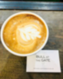 Bull at the Gate, coffee, coffee holborn, coffee shop, latte, flat white, smoothie, london