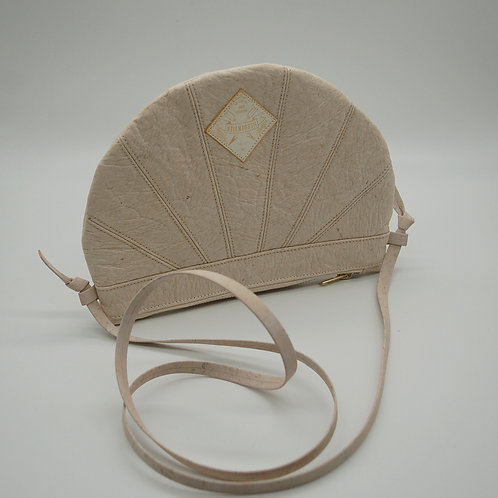 "Handtasche ""Moonbag"", compact, Patchwork white"