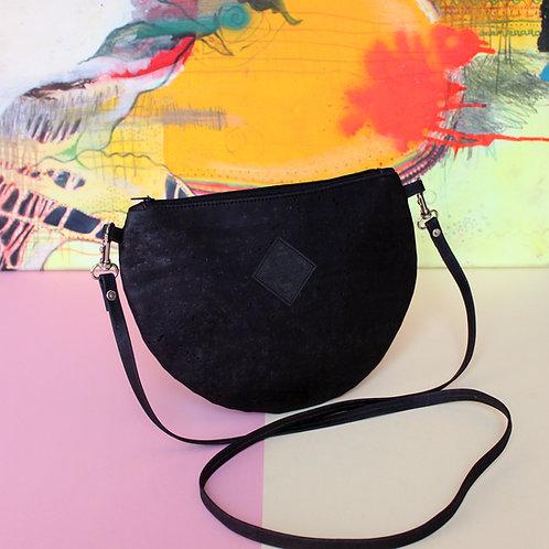 "Handtasche ""Moonbag"", compact, charcoal"