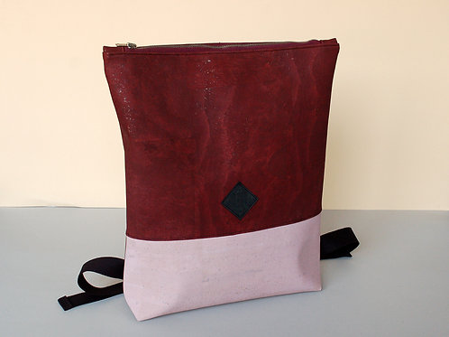 "Rucksack ""Betti"",bordeaux-rosa"