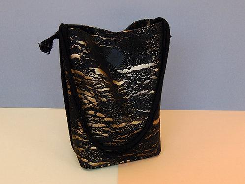 "Rucksack-Tasche ""Clari"", charcoal-gold"