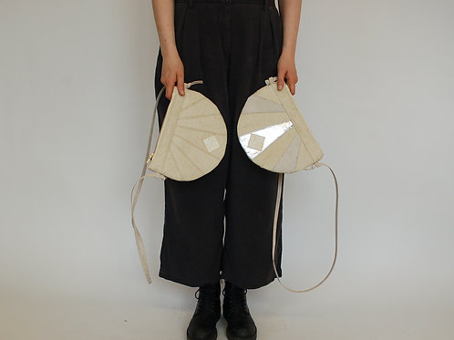 """Handtasche """"Moonbag"""", compact, Patchwork white//white silver"""