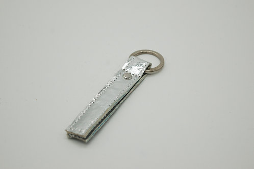 Schlüsselanhänger, Piñatex™, silver