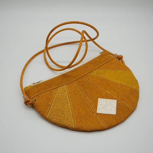 """Unikat Handtasche """"Moonbag"""", compact, Patchwork, curcuma"""