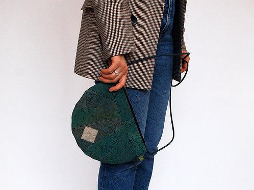 """Unikat Handtasche """"Moonbag"""", compact, Patchwork, turquoise"""