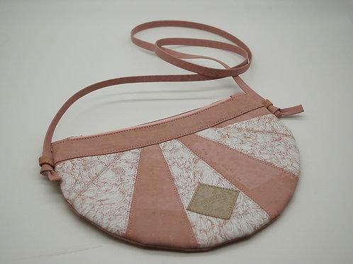"""Handtasche """"Moonbag"""", compact, Patchwork, rosa Siebdruck"""