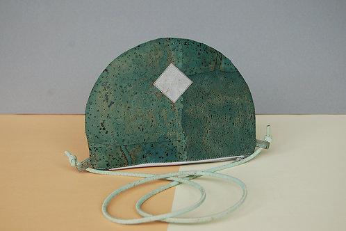 """Handtasche """"Moonbag"""", compact, turquoise"""