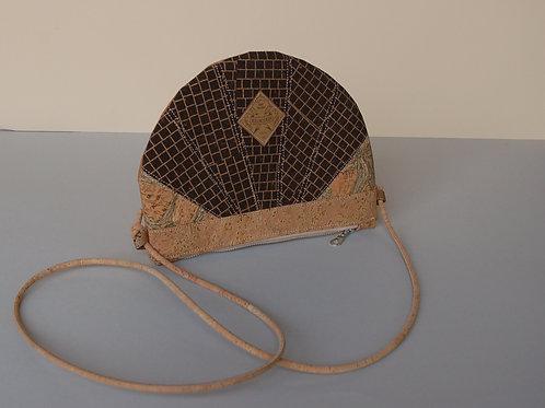 "Unikat Handtasche ""Moonbag"", compact, Patchwork, natur"