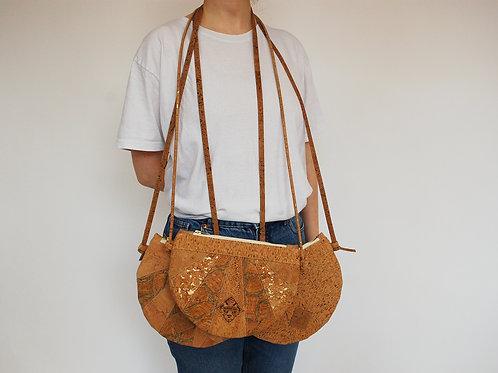 """Handtasche """"Moonbag"""", compact, Patchwork, naturgold"""