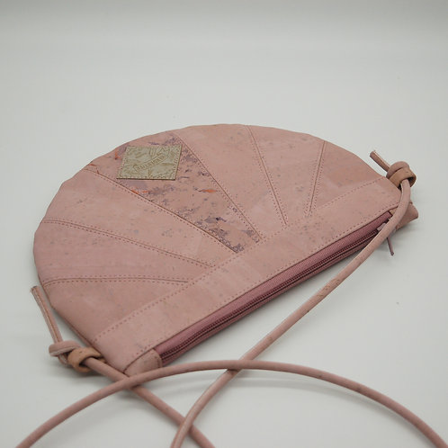 """Handtasche """"Moonbag"""", compact, Patchwork, rosa, handbedruckt"""