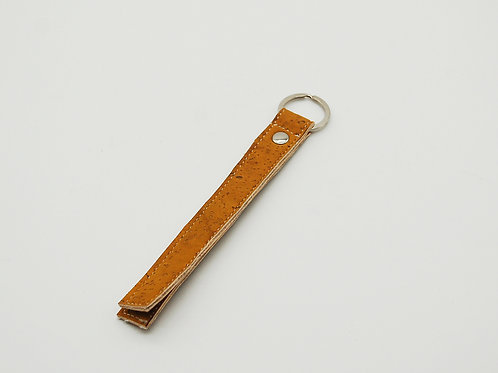 Schlüsselanhänger, Kork, gelb