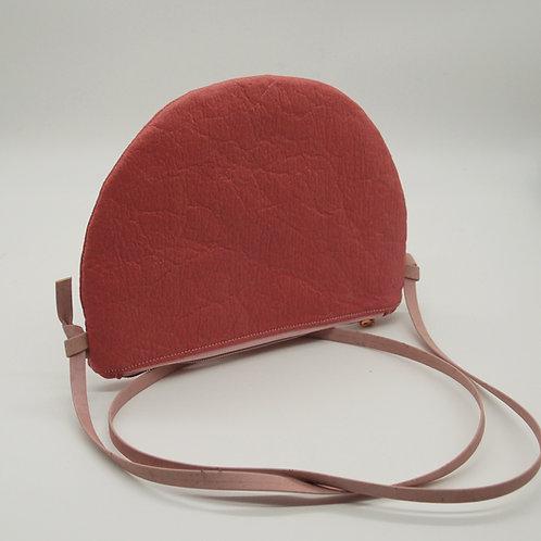 """Handtasche """"Moonbag"""", compact, Piñatex™ altrosa"""