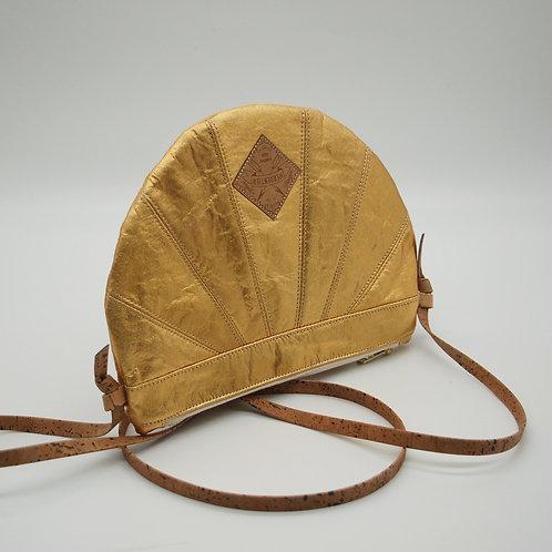 """Handtasche """"Moonbag"""", compact, Patchwork, gold"""