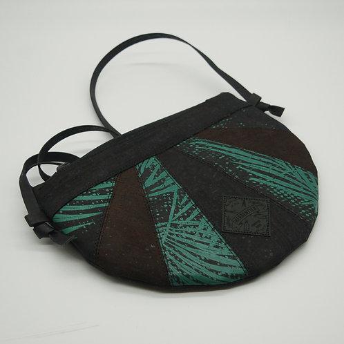 """Unikat Handtasche """"Moonbag"""", compact, Patchwork,schwarz Siebdruck"""