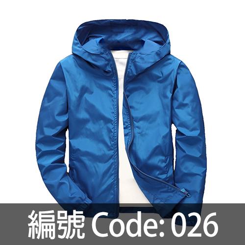 天藍色連帽風衣 WJ005 026