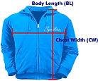 訂做拉鍊衛衣外套ZJ004量度方法