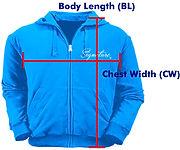 訂做拉鍊衛衣外套ZJ002量度方法