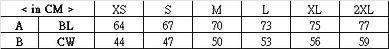 印衫TS001 尺碼表