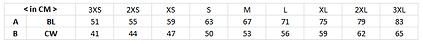 印製棒球褸LJ002尺碼表