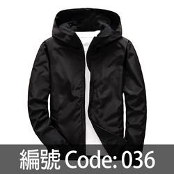 黑色連帽風衣 WJ005 036