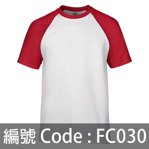 印衫 牛角袖TEE FC030