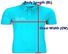 印Polo T Shirt PS006 量度方法