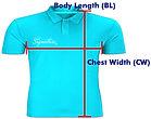 印Polo T Shirt PS005 量度方法