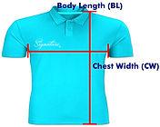 印Polo T Shirt PS003 量度方法