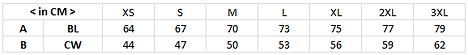 印Tee TS002尺碼表