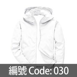 白色連帽風衣 WJ005 030