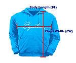 訂做衛衣HJ004量度方法